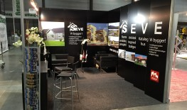 Seve's exhibition stand finished at Bygg Reis Deg Fair in Oslo