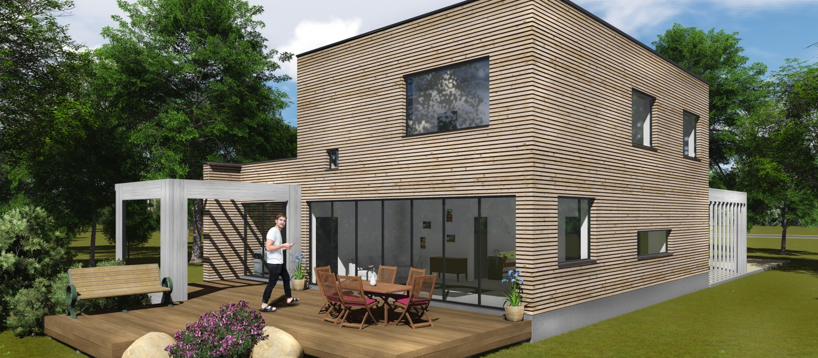 Traditsioonilise joonega + energia maja kliendi ideed meie teostus!