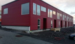 New row houses in Faroe Islands